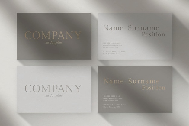 Luxury business card design with front and rear view