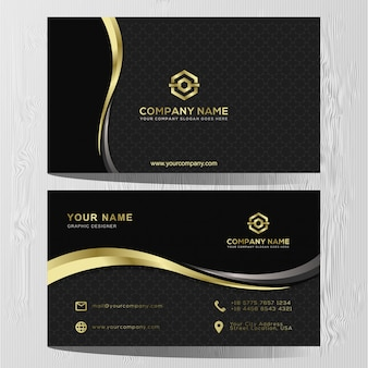 Luxury business card gold and silver template