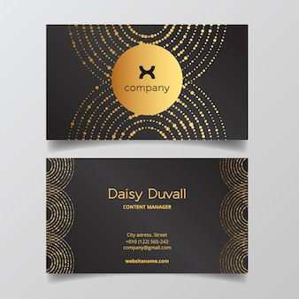 Luxury business card template concept