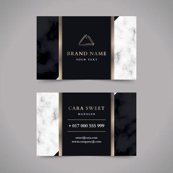 Роскошный дизайн шаблона визитной карточки