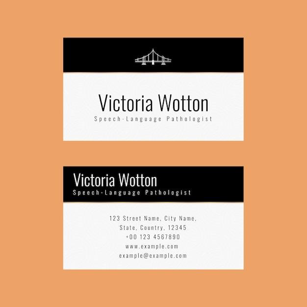 Modello di biglietto da visita di lusso in design minimal