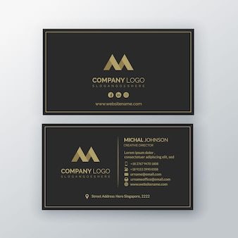 Luxury business card  template premium
