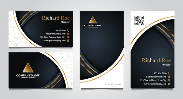 Luxury business card template set