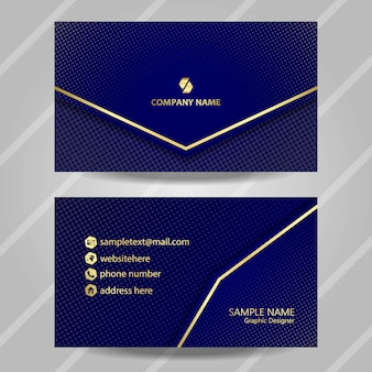 Luxury business card with gold line and glitter