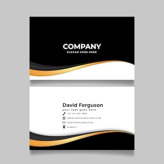 Luxury business card with golden elements