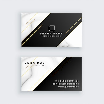 Luxury business card with marble texture