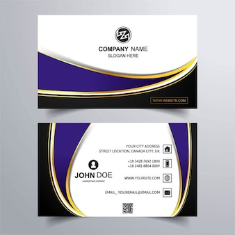 Luxury business card with purple background