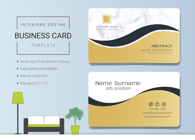 Luxury business cards vector template