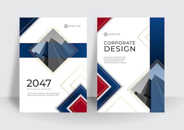 럭셔리 비즈니스 표지 디자인 템플릿입니다. 기업 연례 보고서 또는 현대적인 프레젠테이션 개념