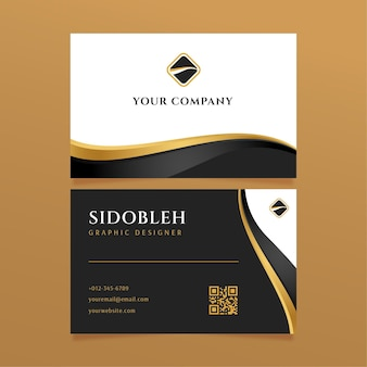 Luxury business identity cards template