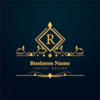 Luxury business logo with ornaments