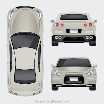 Luxury car in different views