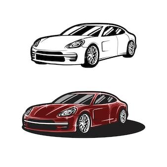 高級車や現代の車のイラスト
