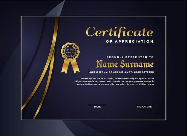 Luxury certificate achievement template