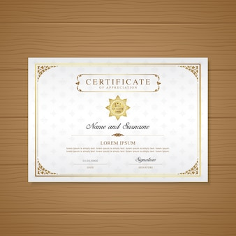 Luxury certificate and diploma design template