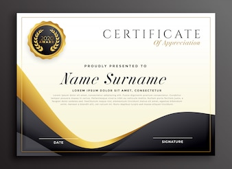 Роскошный сертификат признательности