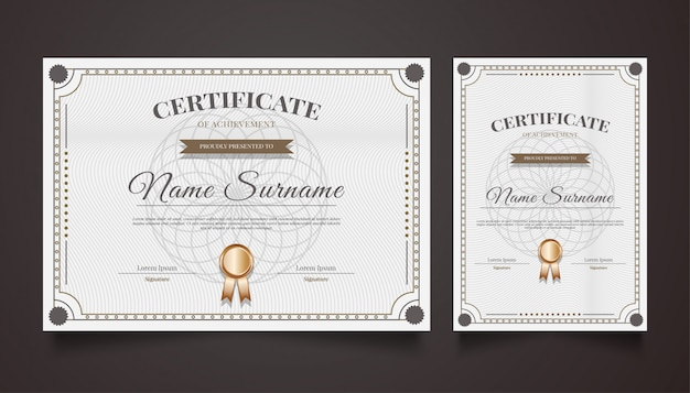 Luxury certificate template with vintage ornaments
