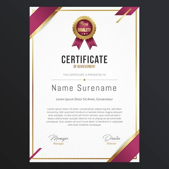 Дизайн шаблона luxury certificate