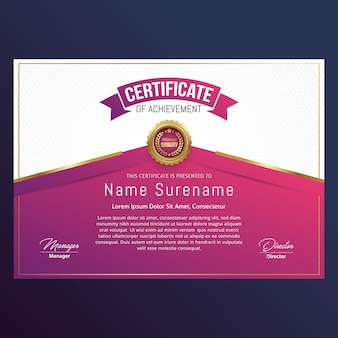 Дизайн шаблона luxury certificate