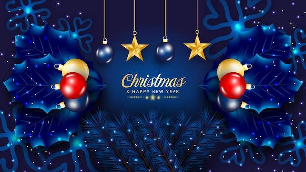 Роскошный рождественский фон дизайн