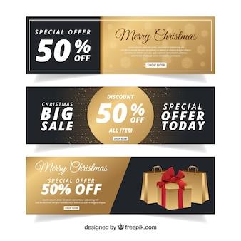 Роскошные рождественские баннеры