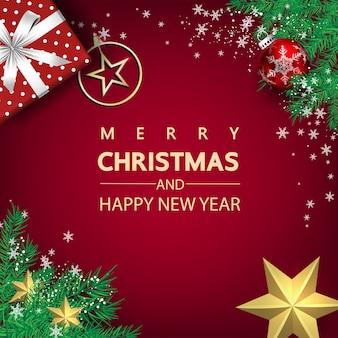 Роскошные рождественские социальные сети для продвижения изолированного фона