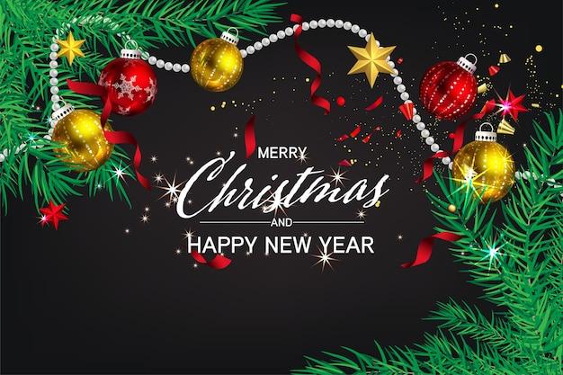 홍보를위한 럭셔리 크리스마스 소셜 미디어 황금과 검정색 배경