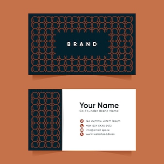 Luxury circle geometric line pattern business card design template