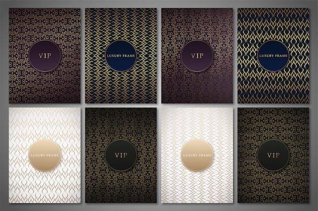 Luxury circles design illustration