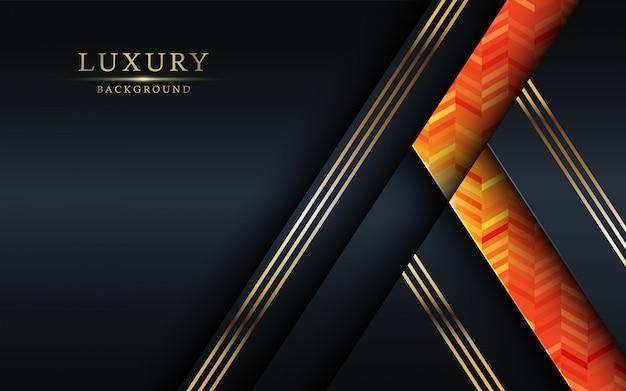 Роскошный красочный и золотой дизайн фона.