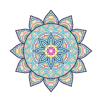 럭셔리 다채로운 만다라아랍어 이슬람 동쪽 스타일 라마단 스타일 장식 만다라 인쇄용 만다라