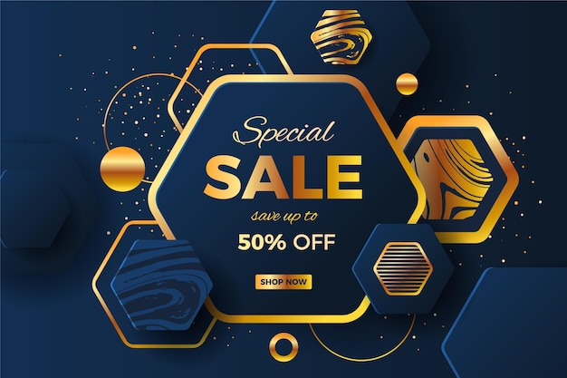 Luxury colorful sale background