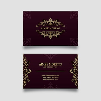 Luxury concept for business card template