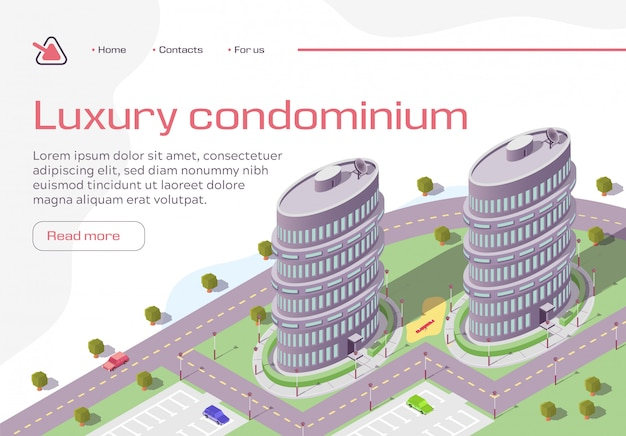 Luxury condominium horizontal banner