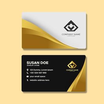 Luxury corporate business card