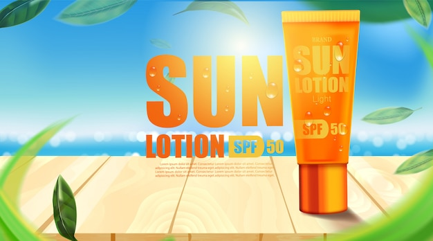 Luxury cosmetic bottle package skin care cream, sun screen bottle uv block, beauty cosmetic product