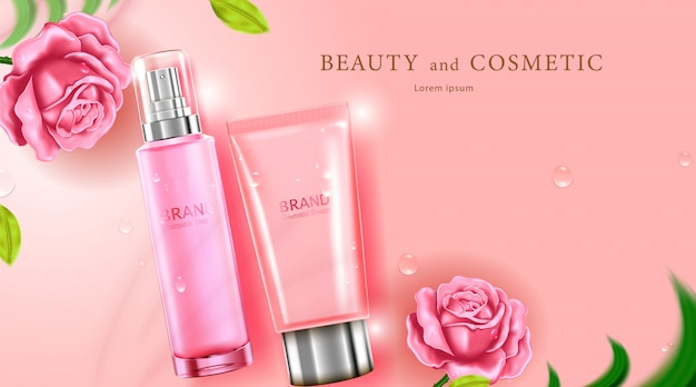 Luxury cosmetic bottle package skin care cream