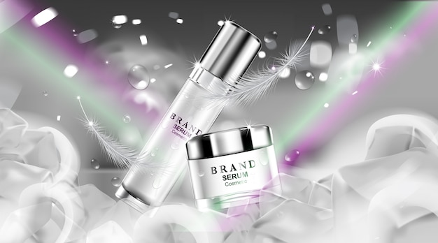 Luxury cosmetic bottle package skin care cream