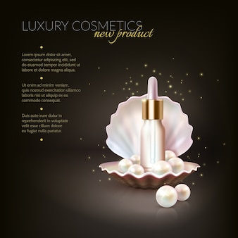 Luxury cosmetic pearl concept