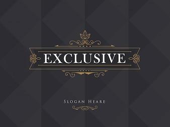 Luxury crown frame modern vector logos flourishes