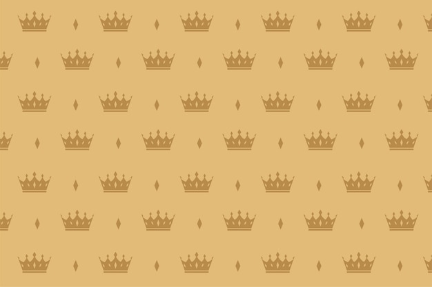Luxury crown seamless pattern