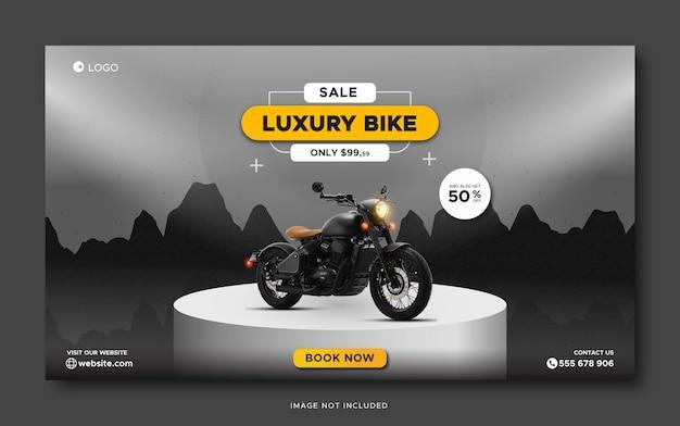 Luxury custom bike sale promotion social media banner template