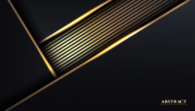 豪華な暗い色と黄金色の抽象的な背景デザインテンプレート。エレガント、ロイヤル、イラスト
