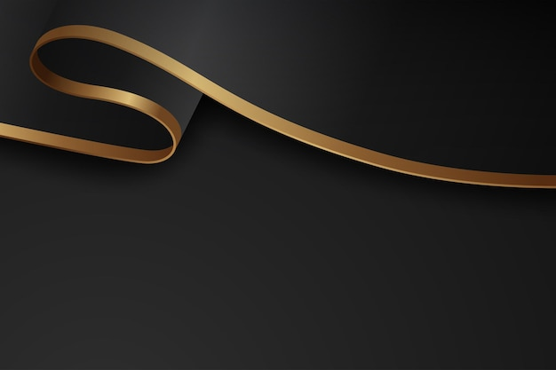 Luxury dark background combine with golden lines element