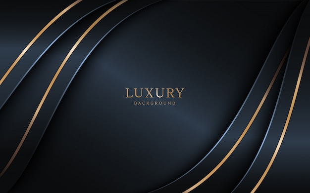 Luxury dark background combine with golden lines element.