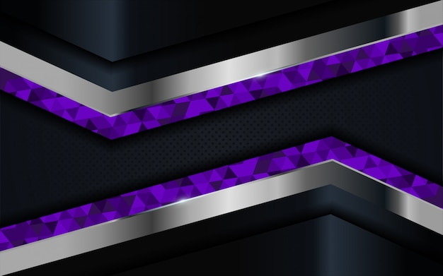 Luxury dark background with blue, purple and silver lines