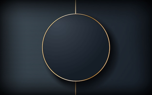 Luxury dark background with circle shape
