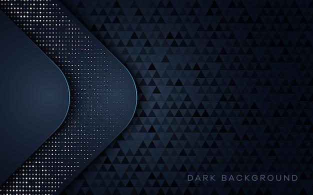Luxury dark background with dots element decorations.