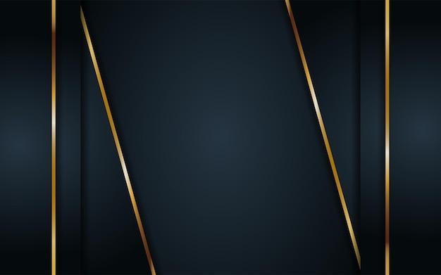 幾何学的な形と黄金の要素の組み合わせで豪華な暗い背景