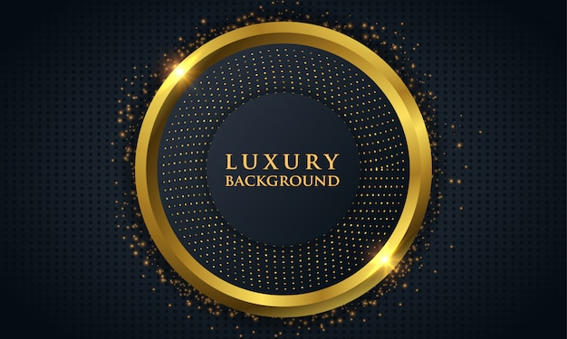 Luxury dark background with golden circle